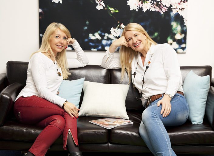 Uschi Fellner and Claudia Stöckl
