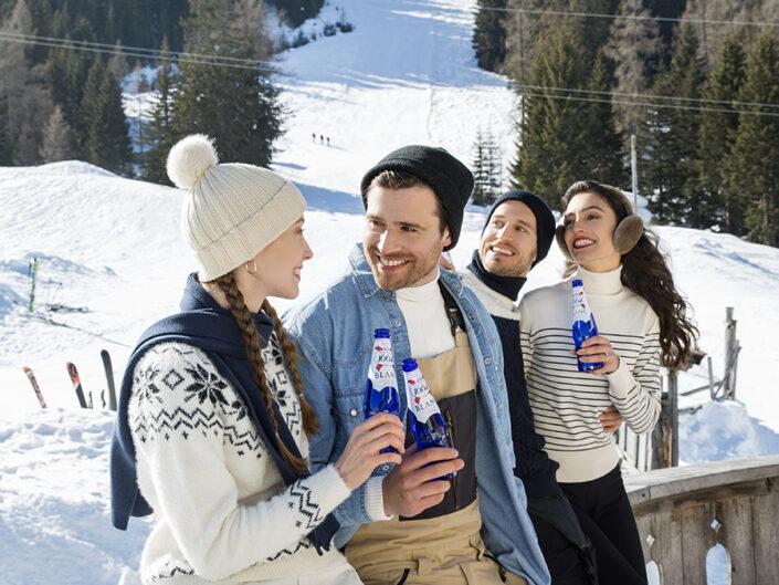 Kronenbourg beer winter hut